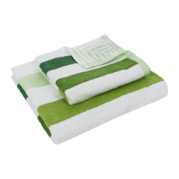 Green Stripe Towel