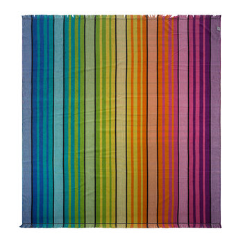 Bright Check Double Beach Towel