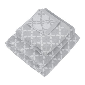 Gray Tile Towel
