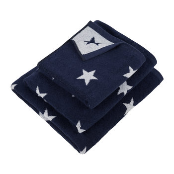 Navy Star Towel