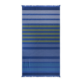 Striped Beach Towel - Blue