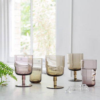 Verres highball Drop - Lot de six - Améthyste