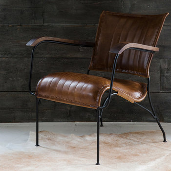 Arthur Leather Chair - Natural