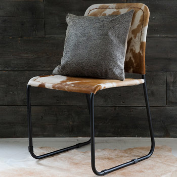 Cowhide Cushion - 45x45cm - Grey