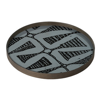 Dark Bohemian Glass Tray