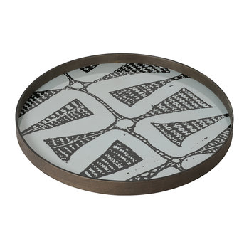Graphite Bohemian Glass Tray
