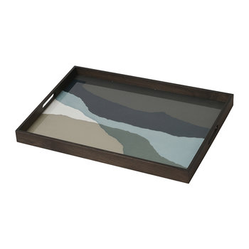 Graphite Wabi Sabi Glass Tray - Rectangle