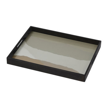 Sand Wabi Sabi Glass Tray - Rectangle