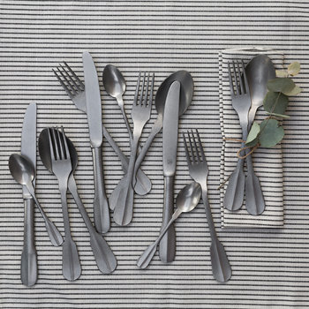 Flat End Stainless Steel Cutlery Set - 24 Piece