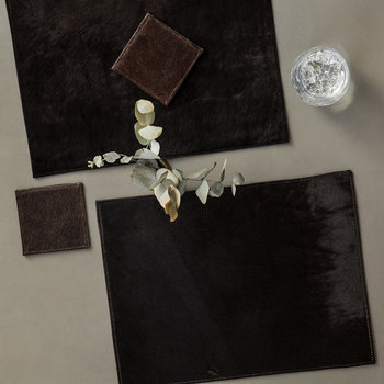 Cowhide Coasters - Set of 4 - Chocolate