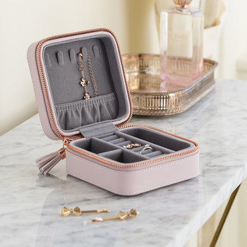 Zipper Jewelry Case - Pink