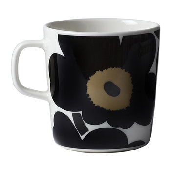 Oiva/Unikko Mug - Large - White/Black