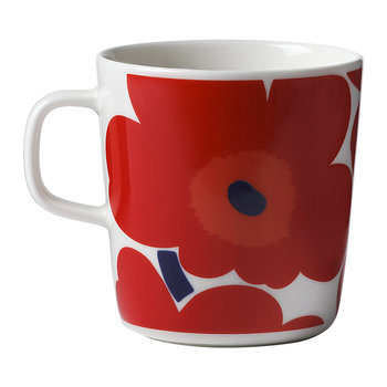 Oiva/Unikko Mug - Large - White/Red