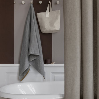 Rideau de Douche en Chambray - Sable