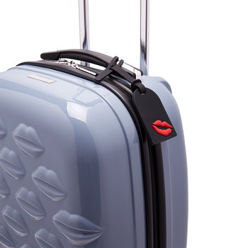 Lip Blot Luggage Tag - Black/Red