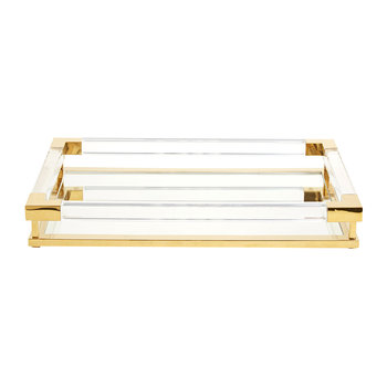 Jacques Tray - Small - Clear Acrylic/Brass