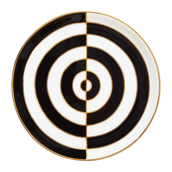 Op Art Porcelain Coasters - Black/White - Set of 4