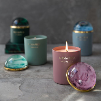 Provence Candle & Paperweight - White Geranium & Lavender