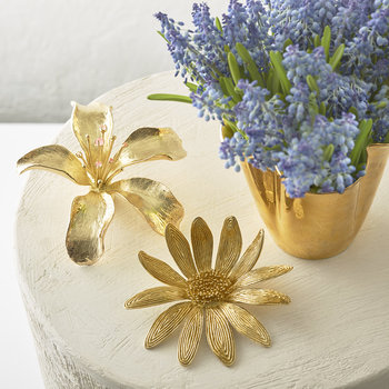 Marguerite Brass Flower - Gold