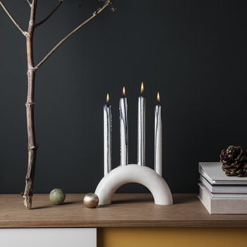 Bow Candle Holder - White