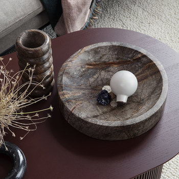 Brown Marble Scape Bowl