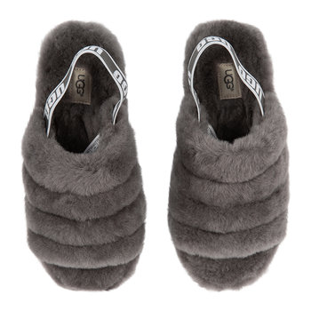 Women's Fluff Yeah Slide Slippers - Charcoal