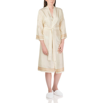 Plain Silk Robe - Ivory
