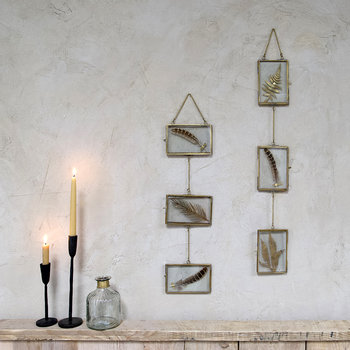 Kiko Glass Hanging Garland - Antique Brass