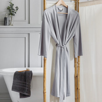 Peignoir Tencel - Gris - Long