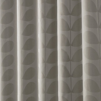 Jacquard Stem Eyelet Curtains - Grey