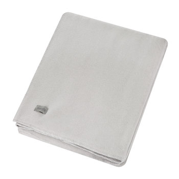 Large Soft Fleece Blanket - Light Grey
