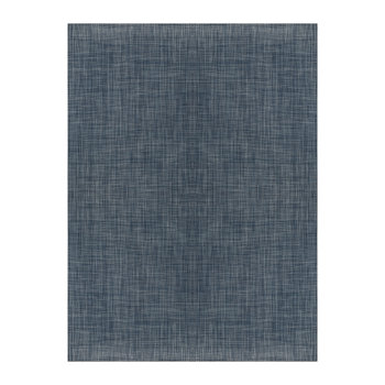 Basketweave Teppich - Denim