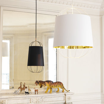 Lanterna Pendant Lamp - Small - Black/Gold