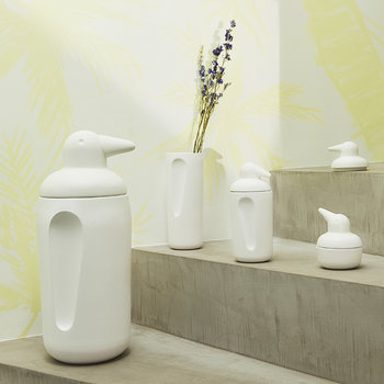 Ping Ceramic Container - White - Bebe