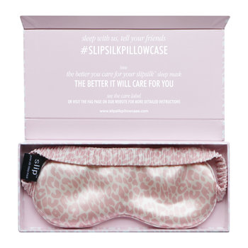 Limited Edition Leopard Print Eye Mask - Pink