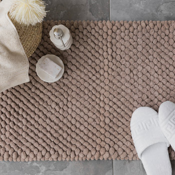 Bobble Bath Mat - Linen