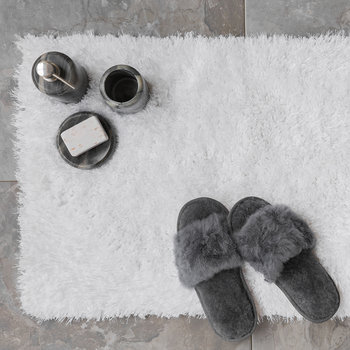 Plush Bath Mat - White