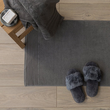 Cotton Bath Mat - Charcoal