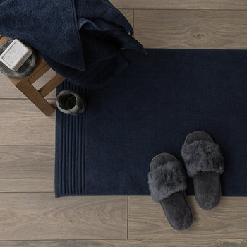 Cotton Bath Mat - Navy