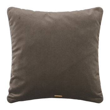 Checked Salon Cushion - 40x40cm - Taupe