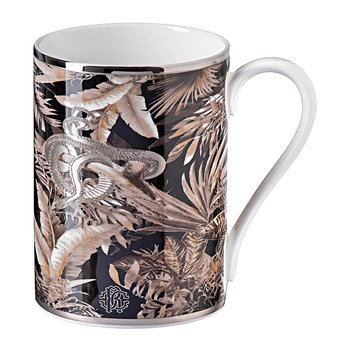Tropical Jungle Fine Bone China Mug - Black