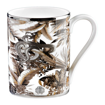 Tropical Jungle Fine Bone China Mug - White