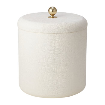 Shagreen Ice Bucket - Cream