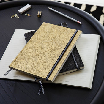Paseo Embossed B5 Notebook - Gold