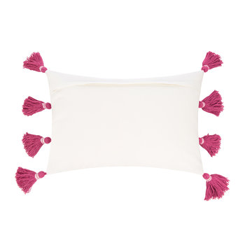 Thick Stripe Tassel Cushion - 40x60cm - Pink