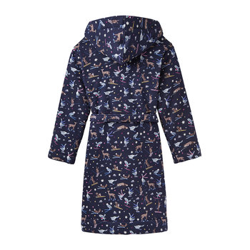 Idlewhile French Navy Woodland Ski Dressing Gown