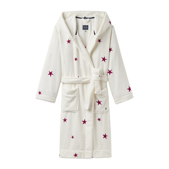 Rita Cream Fuschia Star Dressing Gown