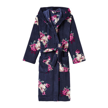 Rita French Navy Bircham Bloom Dressing Gown