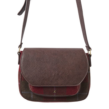 Darby Tweed Saddle Bag - Red Check
