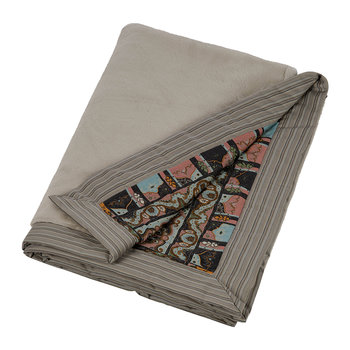 Dubouche Reversible Faux Fur Throw - Grey
